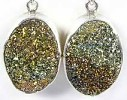 Rainbow Pyrite Earrings